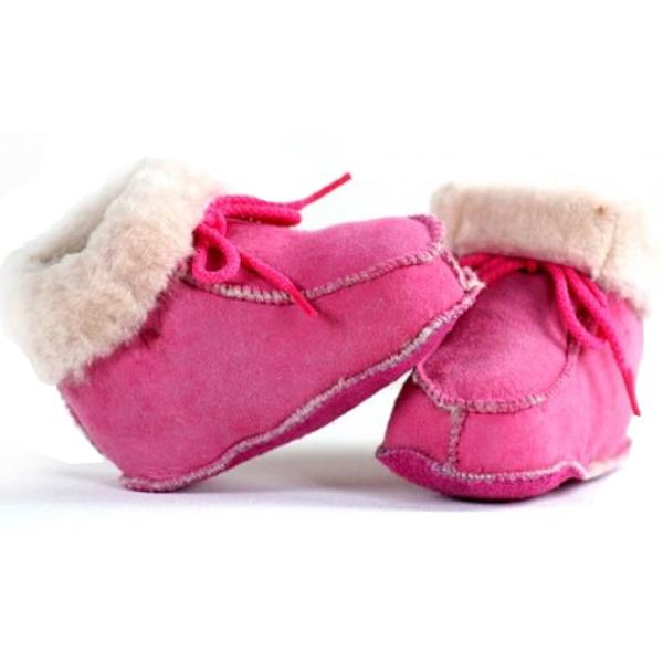 Bernardino 915B Babyboots Lamsvel - Roze