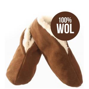 Bernardino Spaanse slof – Mocca – 100% wol