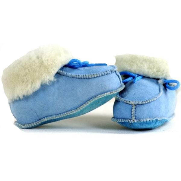 Bernardino 915B Babyboots Lamsvel - Blauw