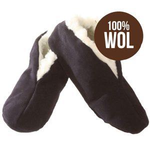 Bernardino Spaanse slof – Marineblauw - 100% wol