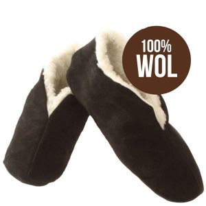 Bernardino Spaanse slof – zwart – 100% wol