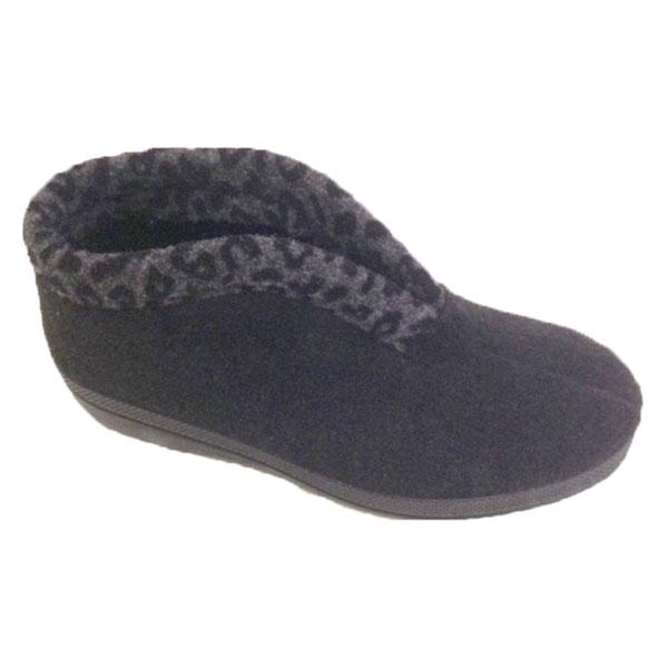 Blenzo 9414 Pantoffel Tijgerprintband- Zwart