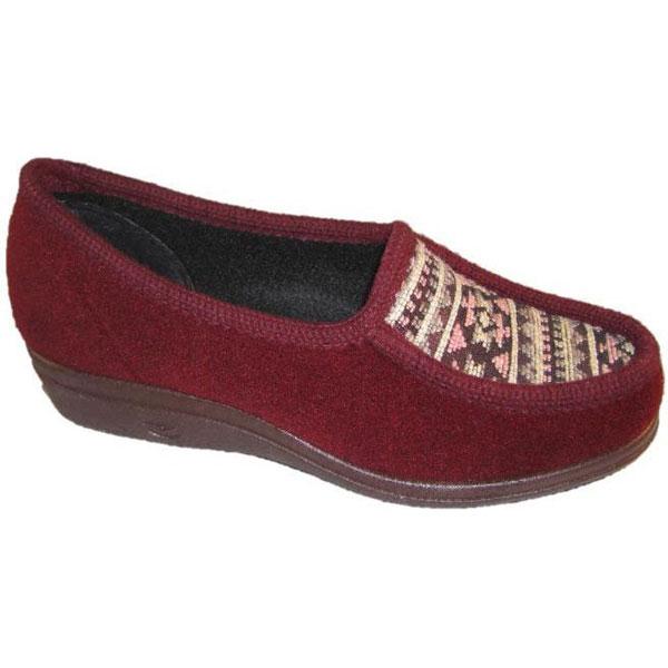 Import Dames Schlingman Pantoffel 26131-Bordeaux Rood