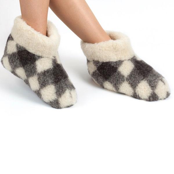 Woolwarmers Wollen Slof Dolly 917- Geblok