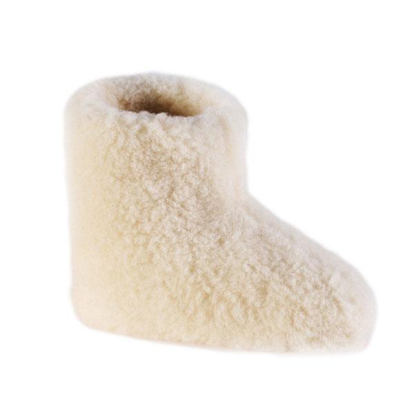 Woolwarmers 915 Wollen Kinder Slof-Wit