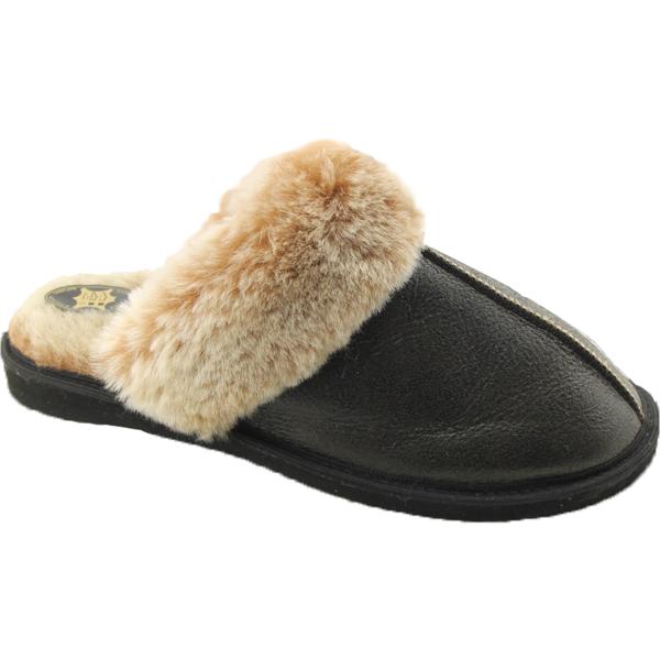 Woolwarmers Leren Pantoffel 856 Hudson - Donkerbruin